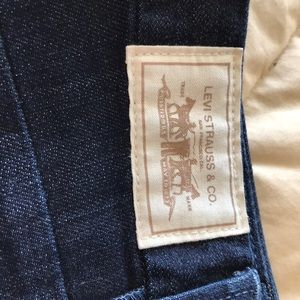 Vintage Levi's higher rise and a dark pigment